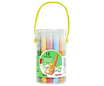 Producto Alcampo 18 rotuladores, con tinta lavable y especiales para los más pequeños de la casa alcampo