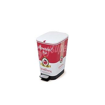 Cubo pedal Chic Tomato con cubeta abatible 25L 1 ud