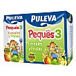 Papilla líquida infantil cereales Peques 3 con frutas desde 12 meses Pack 3 envase 200 ml Puleva