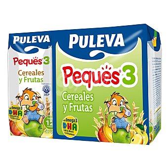 Puleva Papilla líquida infantil cereales Peques 3 con frutas desde 12 meses Pack 3 envase 200 ml
