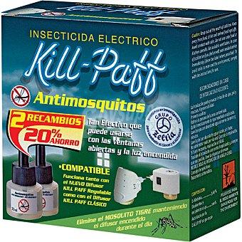 Kill-Paff Insecticida volador eléctrico antimosquitos recambio 2 unidades