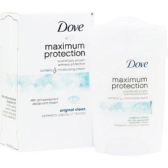 Dove desodorante en crema Original Clean Maximum Protection envase 45 ml
