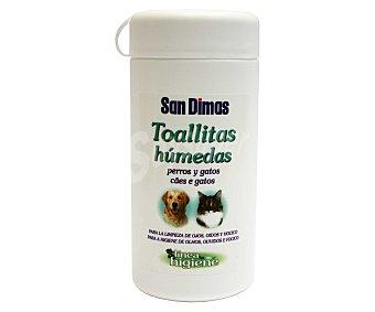 San Dimas Toallitas húmedas para perros y gatos 50 uds