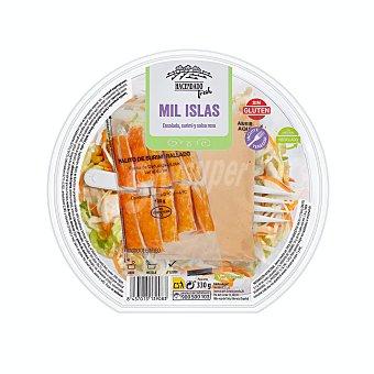 Verdifresh Ensalada mil islas (lechuga iceberg,maiz, zanahoria, salsa rosa ,surimi y tenedor) Tarrina 330 g