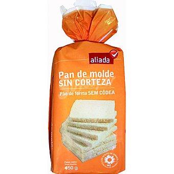 Aliada pan molde blanco sin corteza Bolsa 450 g