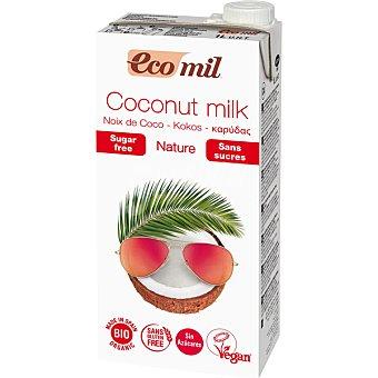 ECOMIL Bio Natural Bebida de coco sin azúcar sin gluten y sin lactosa ecológica envase 1 l Envase 1 l