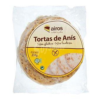 Airos Tortas de anís sin gluten y sin lactosa 210 g