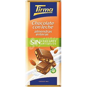 Tirma Chocolate con leche almendras enteras sin azúcares añadidos Tableta 125 g