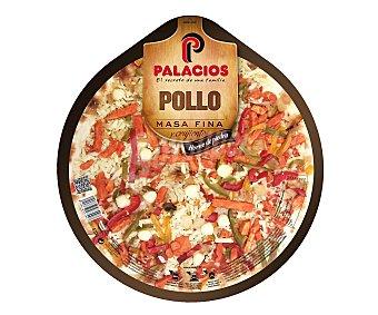 Palacios Pizza de masa fina con pollo 410 gramos
