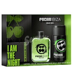 Pachá Ibiza Estuche Colonia Wild Sex spray 100ml + desodorante 150 ml + cartera 1 ud