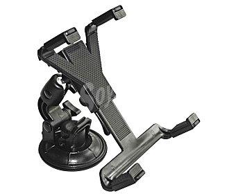TROPHY Soporte de coche de ABS negro, universal y con rotación de 360º para tablets de 145 a 225 milímetros y con fijación mediante ventosa 1 unidad