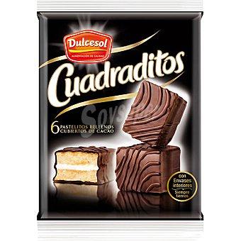 Dulcesol Cuadraditos de chocolate bandeja 240 g 10 unidades