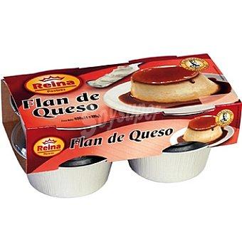 Postres Reina Flan de queso Pack 4 unidades 100 g