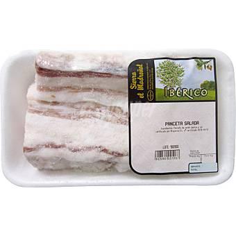 SIERRA EL MADROÑAL Panceta de cerdo ibérico salada Bandeja 500 g