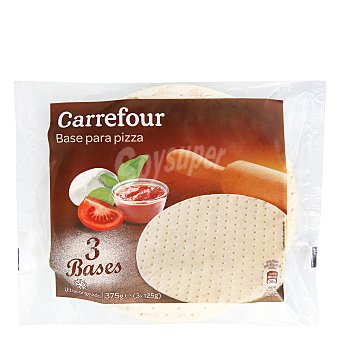 Carrefour Base de pizza Pack 3x125 g