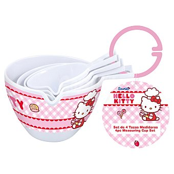 STOR Baking Medidores en melamina Hello Kitty set 4 unidades 4 unidades