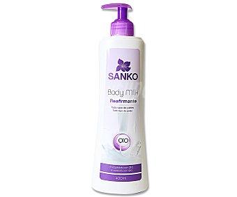 SANKO Body milk reafirmante para todo tipo de pieles 400 mililitros