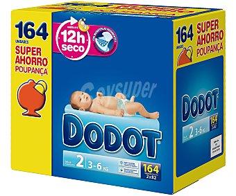 Dodot Pañales talla 2 para bebés de 3 a 6 kilogramos 164 unidades