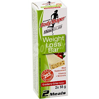 WEIDER Weight Loss Bar barritas sustitutivas con arándanos envase 110 g 2 unidades