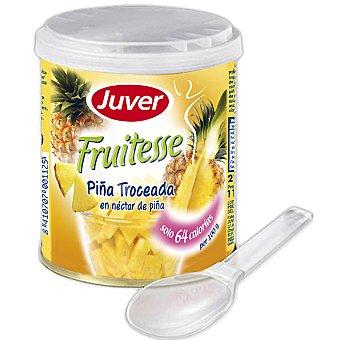 Juver Piña troceada en néctar de piña incluye cuchara Fruitesse Lata 210 g neto escurrido