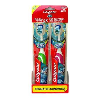 Colgate Cepillo de dientes Batería 360º Wholemouth Clean 2 ud
