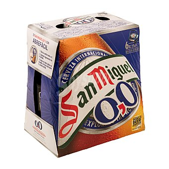 San Miguel Cerveza Sin Alcohol 0% Pack 6 botellas de 25 centilitros