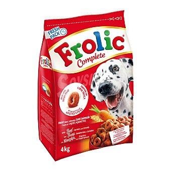 Frolic Pienso para perros adultos grandes, medianos y pequeños Complete buey 4 Kg