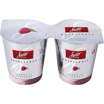 Swiss delice Crema de yogur con frambuesa Pack 2 envase 150 g