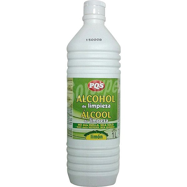 Pqs alcohol de limpieza fragancia lim n botella 1 l - Alcohol de limpieza ...
