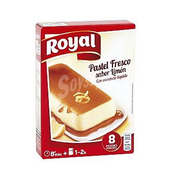 Royal Pastel fresco para preparar sabor limón con caramelo líquido Estuche 103 g