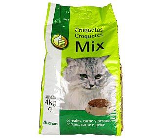 Productos Económicos Alcampo Alimento completo para gatos rico en carne, pescado y cereales 4 kilogramos