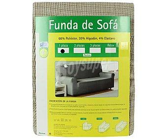 Productos Económicos Alcampo Funda elástica color marfil para sofá de 1 plaza alcampo