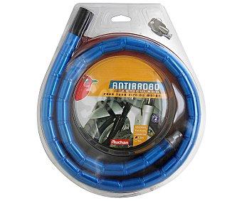 Auchan Cadena anti-robo articulada para moto, extra flexible, con anclaje metálico y longitud de 120 centímetros auchan