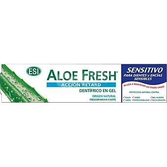 ESI Aloe Fresh Sensitivo acción retard dentífrico en gel frescor menta fuerte tubo 100 ml Tubo 100 ml