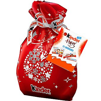 KINDER Happy Snacks mini de Navidad saco 291 g Saco 291 g