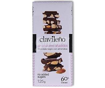 Clavileño Chocolate con almendras sin azúcares añadidos 125 g