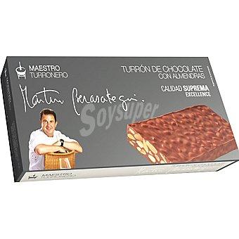 Martin Berasategui Maestro Turronero turrón de chocolate con almendras Calidad Suprema tableta 250 g Tableta 250 g