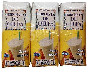 HACENDADO Horchata de chufa PACK 3 u - 990 cc