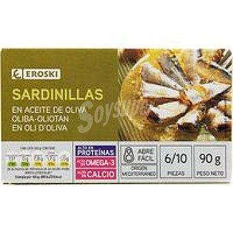 Eroski Sardinilla en aceite de oliva Lata 90 g