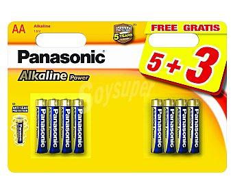 Panasonic Pilas alcalinas AA, LR06, 1,5V Pack de 8 unidades