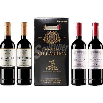 SEÑORIO DE VILLARRICA vino tinto D.O. Rioja 2 Estuche 4 botellas