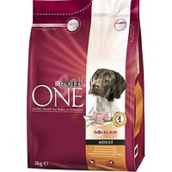 One Purina Alimento de pollo-arroz para perro adulto 3 kg