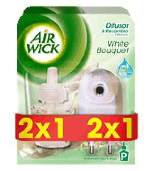 Air Wick Ambientador Eléctrico Aparato White Bouquet 2x1 1 ud