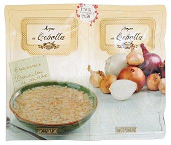 Hacendado Sopa deshidratada cebolla Pack de 2x50 g
