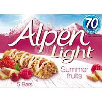 Alpen Barritas de cereal fruta de verano Pack 5x19 g