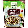 Muesli con chocolate negro y semillas de lino con omega 3 ecológico envase 375 g envase 375 g Jardin Bio