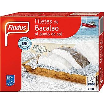 Findus Filetes de bacalao del Atlántico Noroeste al punto de sal Estuche 300 g neto escurrido