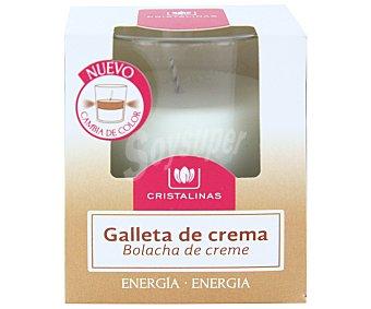 Cristalinas Vela de cera natural con aroma a galletas de crema 1 unidad