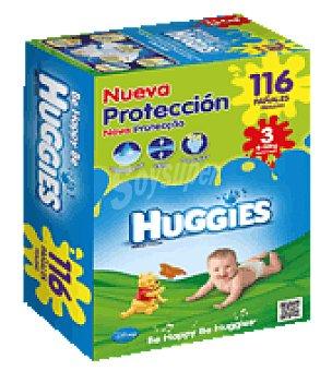 Huggies Pañal superseco dúo T3 4-9 Kg. 116 ud