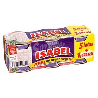 Isabel Atun en aceite vegetal 5+1 latas 312 g